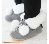 Winter Lauflernschuhe _ Petit Boots (Grau)